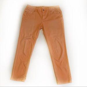 Simply Vera Vera Wang Skinny Ankle Salmon Jeans